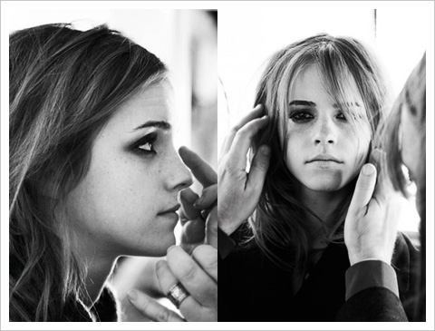 Go behind the scenes with Emma Watson on the Burberry shoot(more photography